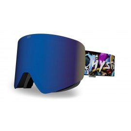 Mascara Hysteresis Illicit negra lente azul  cinta graffiti
