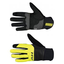 Guante Northwave Power 3 Gel Pad negro-amarillo fluo