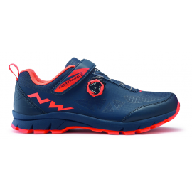 Zapatillas Northwave Corsair azul-naranja lobster