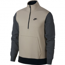 Sudadera Nike Club Top 1/2 cremallera gris hombre