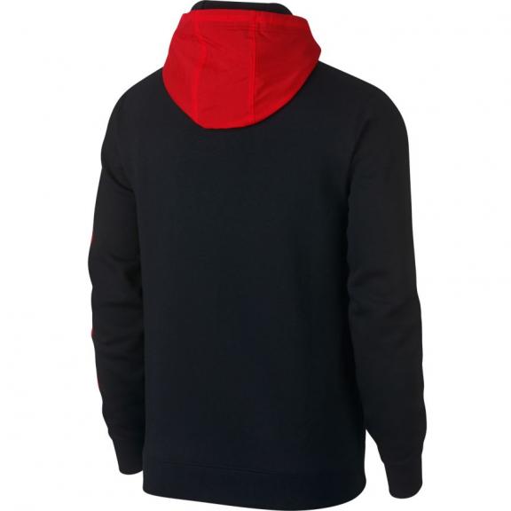 e963ca65b196e Sudadera Nike HBR+ Fleece negro rojo hombre - Deportes Moya