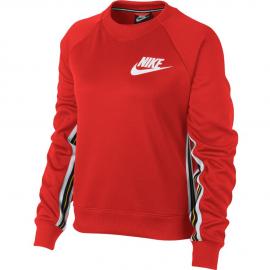 Sudadera Nike Sportwear Crew roja mujer