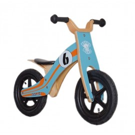 "Bici aprendizaje Rebel Kidz Wood Air madera 12"" Le Mans azul"