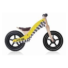 "Bici aprendizaje Rebel Kidz Wood Air madera 12"" Taxi amarill"