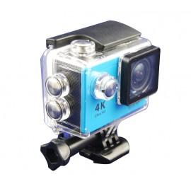 Action camera 4k wifi azul