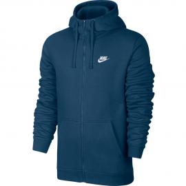 Sudadera Nike Club Hoddie FZ azul hombre