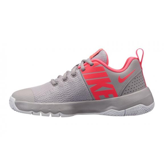 Zapatillas baloncesto Nike Team Hustle quick gris rosa niña ... 6d3062a4704