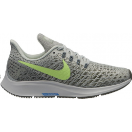 Zapatillas running Nike Air Zoom Pegasus 35 gris/lima junior