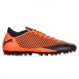 Zapatillas fútbol Puma Future 2.4 MG negro/naranja hombre