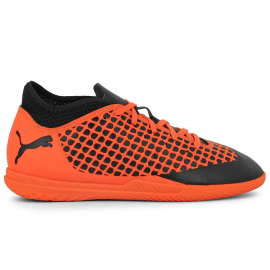Zapatillas fútbol Puma Future 2.4 IT negro/naranja junior