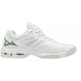 Zapatillas voleyball Mizuno Wave Lightning blanco/gris mujer