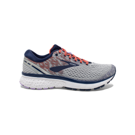 Zapatillas running Brooks Ghost 11 gris/azul/coral mujer