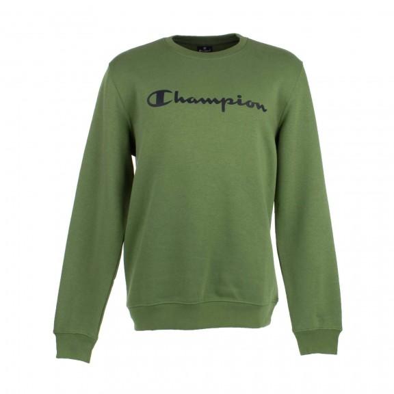 9caa5021ef147 Sudadera Champion cuello caja GS038 verde hombre - Deportes Moya