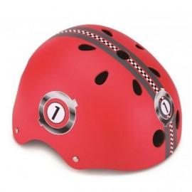 Casco skate Globber Racing rojo niño