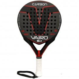 Pala de padel Vairo Carbon 8.1 negra- roja