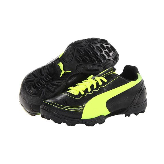 Zapatillas Fútbol Puma Evospeed 5.2TT negro amarillo junior