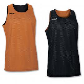 Camiseta baloncesto Joma Aro reversible negro/naranja junior