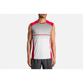 Camiseta Brooks Stealth Sleeveless rojo/blanco hombre