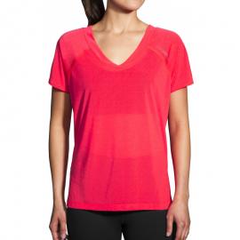 Camiseta Brooks Ghost Sleeve rosa mujer