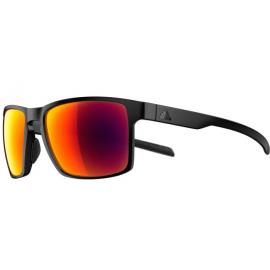 Gafas Adidas Wayfinder negro mate lentes rojo espejo