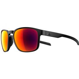 Gafas Adidas Protean negro mate lentes rojo espejo
