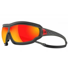 Gafas Adidas Tycane Pro Outdoor umber matt lentes rojo