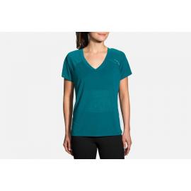 Camiseta Brooks Ghost Sleeve negro mujer