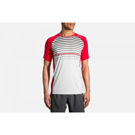 Camiseta Brooks Stealth Sleeve blanco hombre