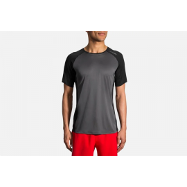 Camiseta Brooks Stealth Sleeve gris hombre