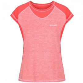 Camiseta senderismo Regatta Breakbar III Coral mujer