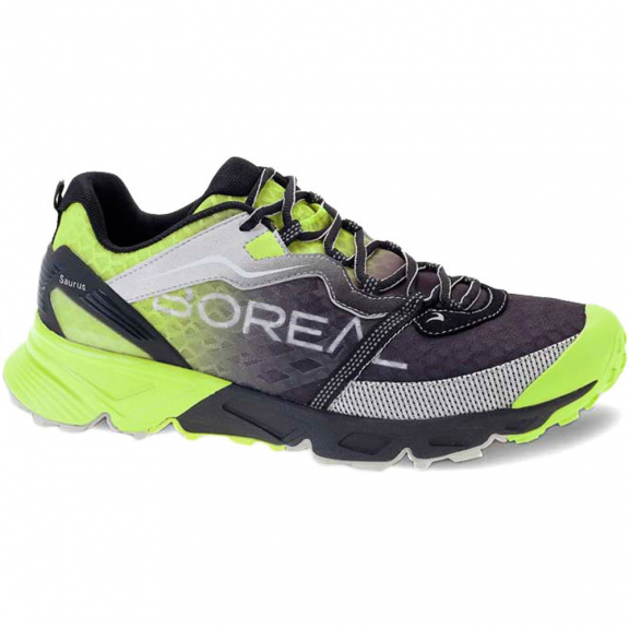 29cf1fe20fa34 Zapatillas trail running Boreal Saurus negro lima hombre - Deportes Moya