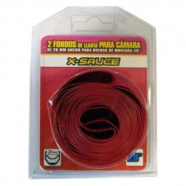 "Blister 2 Fondo de llanta Rojo X-Sauce 29"" 20mm"