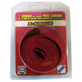 Blister 2 Fondo de llanta Rojo X-Sauce carretera 16 mm
