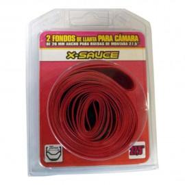 "Blister 2 Fondo de llanta Rojo X-Sauce 27.5"" 20mm"