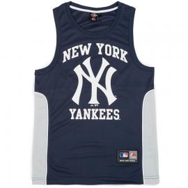 Camiseta Majestic NY marino hombre
