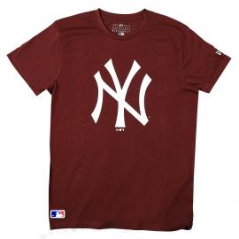 Camiseta New Era New York Yankees burdeos hombre