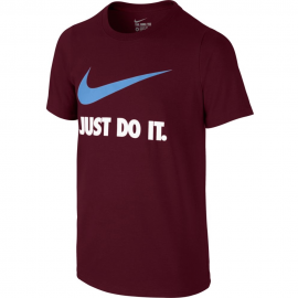 Camiseta Nike Just Do It Swoosh Training  burdeos junior
