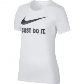 Camiseta Nike Crew Just Do it swosh blanca mujer