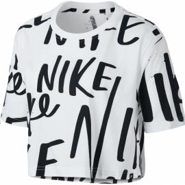 Camiseta Nike Sportwear AOP blanca mujer