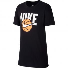 Camiseta Nike Sportwear negra junior