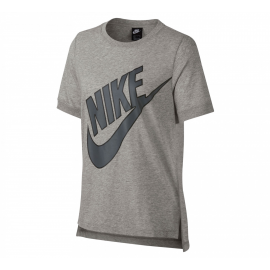 Camiseta Nike Sportwear Prep Futura gris mujer