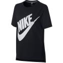 Camiseta Nike Sportwear Prep futura negra mujer