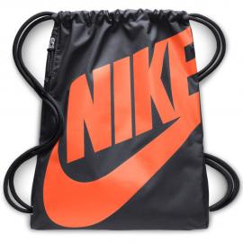 Mochila saco Nike Heritage antracita/naranja