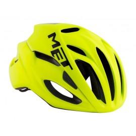 Casco Met Rivale amarillo fluor carretera