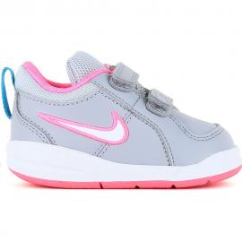 Zapatillas Nike Pico 4 (TDV) gris/rosa bebé