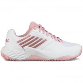 Zapatillas padel K-Swiss Aero Court HB blanco/rosa mujer