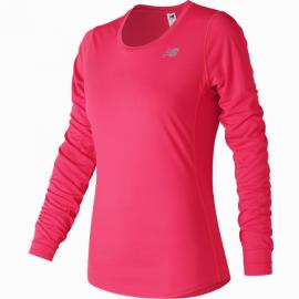 Camiseta Running Mujer New Balance Accel manga larga rosa