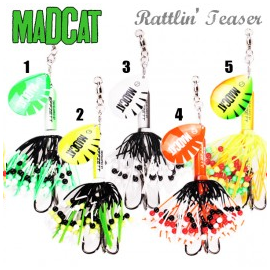 Mad cat Rattlin Teaser Spinner 90 gr Glash ghos