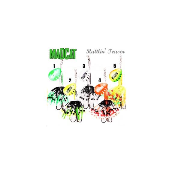 Madcat Rattlin teaser Spinner 90gr. Fluo Yellow