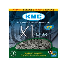 Cadena Kmc E1 plata 110 eslabones 1 veloci cambio interno